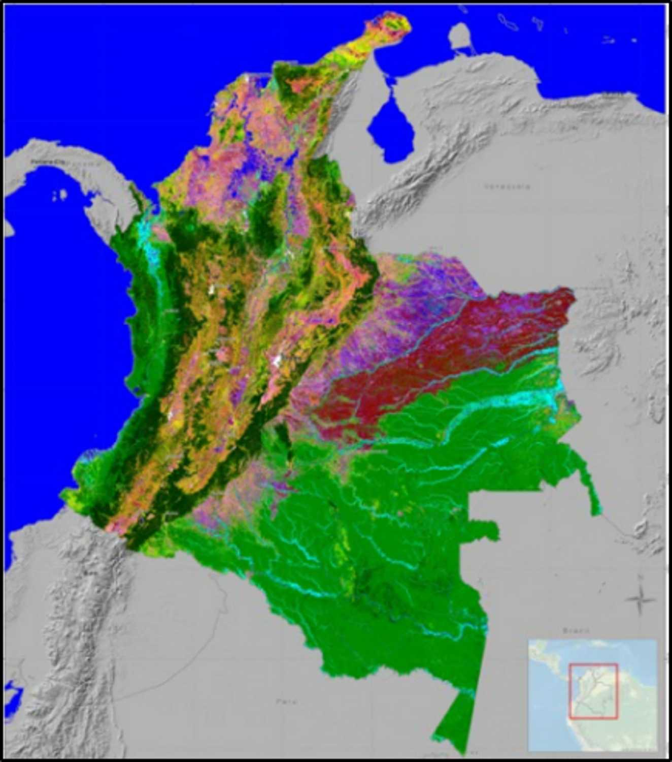 Baseline map: Land cover map of Colombia